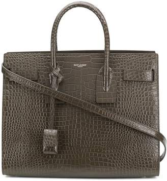 Saint Laurent embossed tote bag