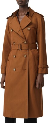 Burberry Waterloo Relaxed Fit Cotton Trench Coat
