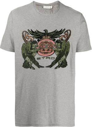 Etro crest-jacquard T-shirt
