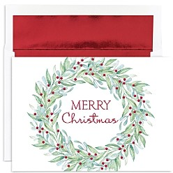 MASTERPIECE Wreath Holiday Cards, Set of 18