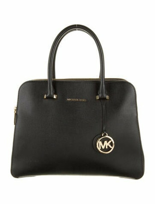 MICHAEL Michael Kors Leather Double Zip Satchel Black