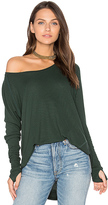 Feel The Piece Sabel Long Sleeve Tee in Green.