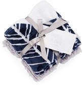 Swankie Blankie Herringbone Burp Cloth Set, Navy