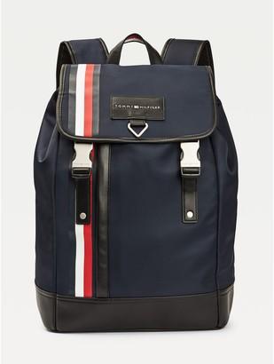 Tommy Hilfiger Signature Stripe Flap Backpack