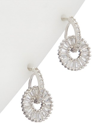 Alanna Bess Limited Collection Silver Cz Huggie Earrings