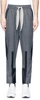 Pronounce Patchwork drawstring suiting jogging pants