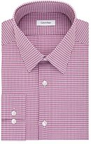 Calvin Klein Men's Non Iron Slim Fit Check Point Collar Dress Shirt
