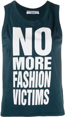 Katharine Hamnett No More Fashion Victims tank top