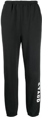 STAUD Logo Print Cotton Track Trousers