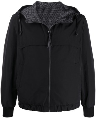 Salvatore Ferragamo Zip-Through Hooded Jacket