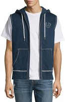 True Religion Contrast-Stitch Sleeveless Hoodie