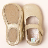 tip toey joey Dolly Shoe for Baby & Toddler - Gold Stamp