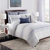 Cupcakes And Cashmere Indigo Stripe Duvet Cover, Full/Queen