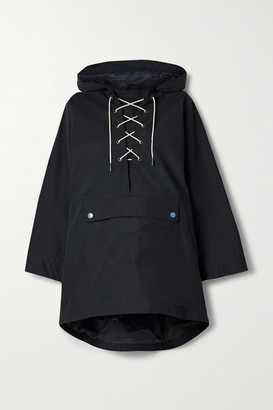 Barbour Alexachung Pippa Hooded Poplin Jacket - Navy