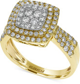 Effy Pavé Rose by Diamond Square Ring in 14k White, Yellow or Rose Gold (3/4 ct. t.w.)