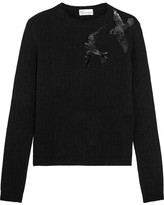 RED Valentino Sequined Knitted Sweater - Black