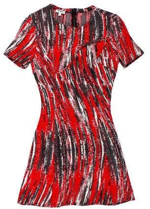 Kenzo Short Sleeve Intarsia Dress