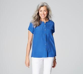 J. Jill J.Jill Button Front Short Sleeve Safari Shirt