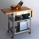 John Boos Cucina Elegante Kitchen Cart with 1 Drop Leaf #CUCE40