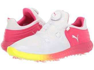 Puma Golf Golf Ignite Blaze Sport Disc Solstice White White/Energy Rose) Women's Golf Shoes