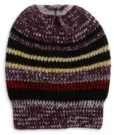 Free People All Day Every Day Striped Slouchy Beanie
