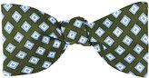 Barneys New York Men's Diamond-Pattern Silk Twill Bow Tie-GREEN