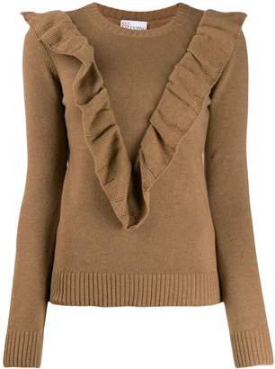 RED Valentino ruffle detail jumper