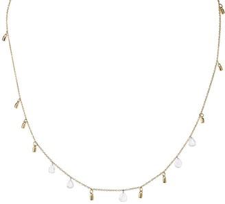 Lee Jones 5 Diamond Fairy Dust Yellow Gold Choker Necklace