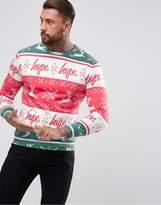 Hype Christmas Sweatshirt With Fairisle Print