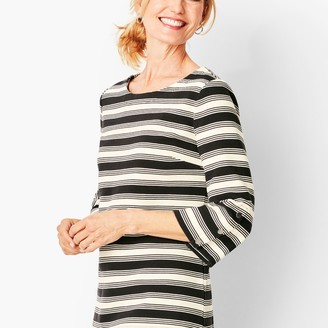 Talbots Bateau-Neck Knit Top - Stripe