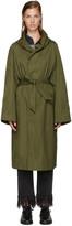 Etoile Isabel Marant Green Nylon Daker Trench Coat