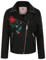 George Embroidered Biker Jacket