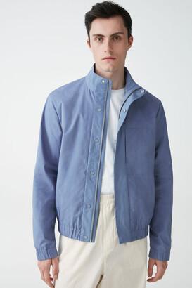 Cos Organic Cotton High Collar Bomber Jacket