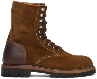Belstaff Brown Suede Marshall Boots