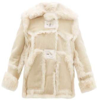 Acne Studios Lavinia Shearling Jacket - Womens - Cream