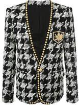 Balmain houndstooth studded jacket