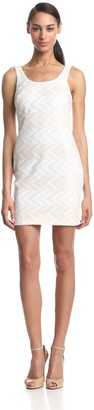 Aidan Mattox Aidan Women's Sleeveless Zig Zag Printed Dress