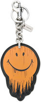 Coach smiley print keyring - men - Leather - One Size