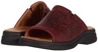 Ariat Bridgeport Sandal (Red Floral Emboss) Women's Sandals