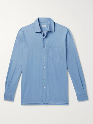 Kiton Slim-Fit Cotton-Chambray Shirt