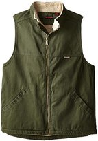 Wolverine Men's Big-Tall Upland Rugged Twill Sherpa Lined Vest