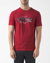 Lacoste Red Crew Neck Logo T-Shirt