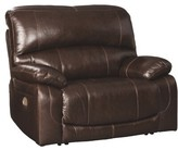 Pisano Leather Power Recliner Red Barrel Studio Fabric: Chocolate, Support: Adjustable Headrest Included