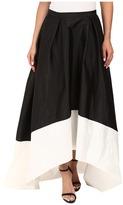 Adrianna Papell High-Low Color Block Taffeta Skirt