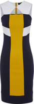 Oxford Sandrine Panel Dress Navy/Citrus X