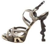 Christian Dior Stingray Embellished Sandals