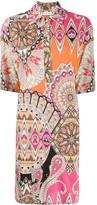 Etro pattern-mix shirt dress