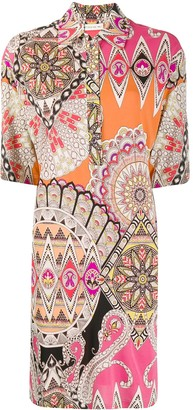 Etro Pattern-Mix Shirt Dress