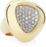 Roberto Coin Capri Plus Diamond Pave Ring, Gray, Size 6.5