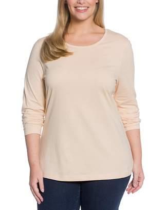 Ulla Popken Women's Basic Langarmshirt Rundhals Longsleeve T - Shirt